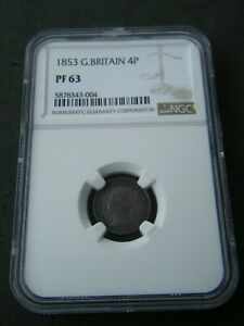 Click now to see the BUY IT NOW Price!  1853 PROOF GROAT FOURPENCE 4D   NGC PF63   GREAT BRITAIN VICTORIA