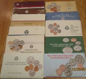 Click now to see the BUY IT NOW Price! 1984 85 86 87 1988 1989 1990 1991 1992 1993 1994 MINT SET U.S. MINT 11 SET COA