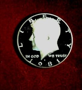 1981 S  KENNEDY  HALF  DOLLAR PROOF  CLAD  GEM  PROOF  CAMEO    FREE  SHIPPING