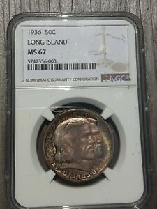 Click now to see the BUY IT NOW Price! 1936 LONG ISLAND COMMEMORATIVE HALF DOLLAR NGC GRADED MS67