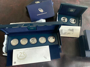 2011 SILVER EAGLE 25TH ANNIVERSARY COIN SET & 2013 SILVER EAGLE WEST POINT SET
