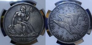 1836 SILVER GOBRECHT DOLLAR $1JUDD 60 DIE ALIGNMENT LV NGC PROOF DETAILS CLEANED