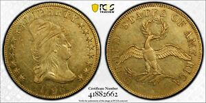 Click now to see the BUY IT NOW Price! 1796 $10 DRAPED BUST GOLD EAGLE PCGS AU 55 EXCEPTIONAL EXAMPLE