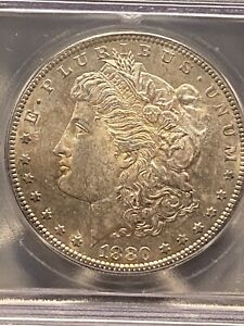 Click now to see the BUY IT NOW Price! 1880 S SILVER MORGAN DOLLAR ICG MS64 REPUNCHED DATE MINT ERROR