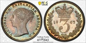 Click now to see the BUY IT NOW Price! 1867 GREAT BRITAIN 3 PENCE THREEPENCE 3D S 3918 PCGS PL65  POP 1 NONE HIGHER