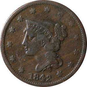 1842 LARGE CENT GREAT DEALS FROM THE EXECUTIVE COIN COMPANY