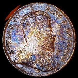 Click now to see the BUY IT NOW Price! STRAITS SETTLEMENTS 1902 5 CENTS OLD WORLD SILVER COIN HIGH GRADE TONED