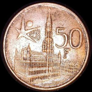 Click now to see the BUY IT NOW Price! BELGIUM 1958 50 FRANCS OLD SILVER WORLD COIN HIGH GRADE