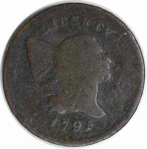 1795 HALF CENT LETTERED EDGE G UNCERTIFIED