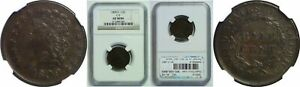1809/6 HALF CENT NGC AU 58 BN 9 OVER INVERTED 9 C 5