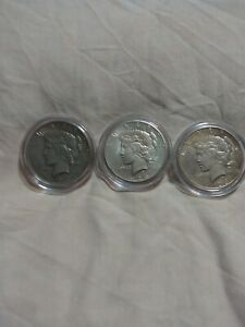 1926 PEACE DOLLARS 3 EA G TO VG 2S & 1D