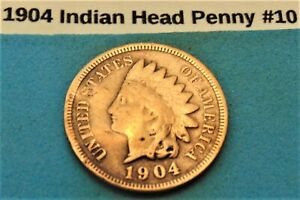 1904 INDIAN HEAD PENNY  10 GOOD COIN