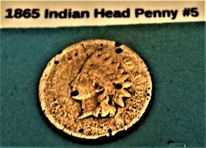 1865 INDIAN HEAD PENNY  5 ACTUAL PHOTO