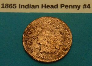 1865 INDIAN HEAD PENNY 4 ACTUAL PHOTO