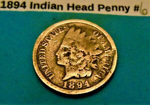 1894 INDIAN HEAD PENNY  6 ACTUAL COIN IN THE PHOTO