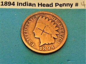 1894 INDIAN HEAD PENNY  4 GOOD DETAILS