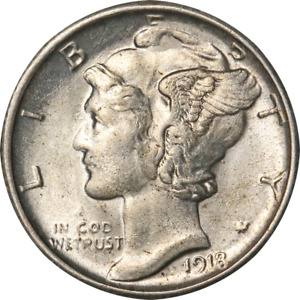 1918 S MERCURY DIME GREAT DEALS FROM THE EXECUTIVE COIN COMPANY