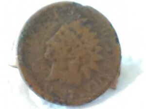 1887 INDIAN HEAD PENNY TIE CLIP. A NR SALE. WHAT A DEAL.
