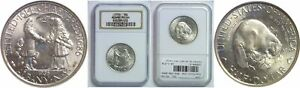 1936 ALBANY SILVER COMMEMORATIVE NGC MS 66