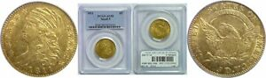 1811 $5 GOLD COIN PCGS AU 50 SMALL 5