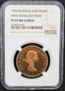 Click now to see the BUY IT NOW Price! 1956 VIP PROOF PENNY NEW ZEALAND ELIZABETH II KM 24.2 NGC PF67 RD CAM TOP POP