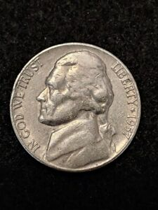 1957 D JEFFERSON NICKEL MONTICELLO FROM USA ESTATE SALE COIN COLLECTION KM A192
