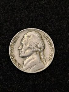 1946 P JEFFERSON NICKEL MONTICELLO FROM USA ESTATE SALE COIN COLLECTION KM A192