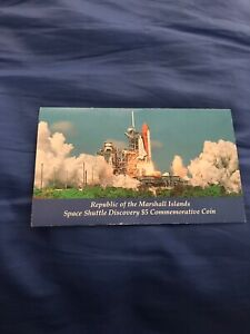 SPACE SHUTTLE DISCOVERY $5 COMMEMORATIVE COIN   REPUBLIC OF THE MARSHALL ISLANDS