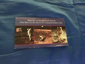 1989 REPUBLIC OF THE MARSHALL ISLANDS $5 COMMEMORATIVE COIN 1ST MEN ON THE MOON