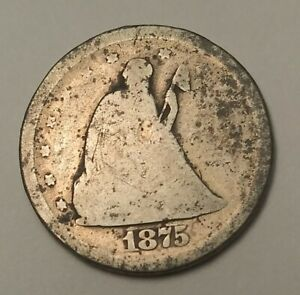 1875 S SEATED LIBERTY 20 CENT PIECE  ABOUT GOOD  AG CONDITION  COIN