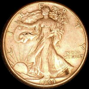 Click now to see the BUY IT NOW Price! USA 1944 WALKING LIBERTY 50 CENT SILVER COIN HIGH GRADE