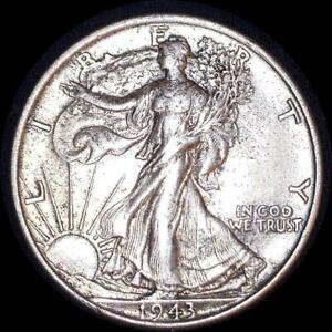 Click now to see the BUY IT NOW Price! USA 1943 WALKING LIBERTY 50 CENT SILVER COIN HIGH GRADE