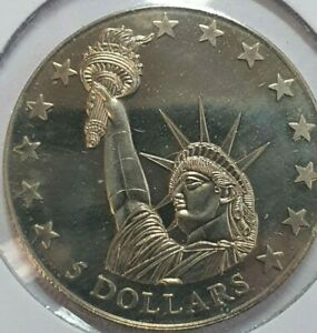 2000 LIBERIA $5 FIVE DOLLARS PROOF COIN STATUE OF LIBERTY