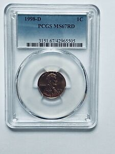 1998 D LINCOLN MEMORIAL REVERSE CENT PCGS MS67RD