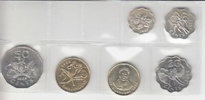 SWAZILAND KMS LOOSE   6 COINS BRILLIANT UNCIRCULATED