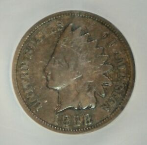 1898 INDIAN CENT  MINT ERROR  DOUBLE STRUCK IN COLLAR  NGC VF