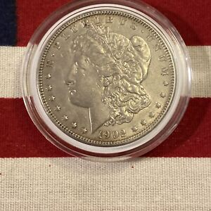 1904 P MORGAN SILVER DOLLAR AU/UNC  KEY DATE AMAZING DETAILS AND LUSTER