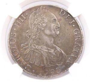 Click now to see the BUY IT NOW Price! 1793 SO DA CHILE 8 REALES NGC AU55