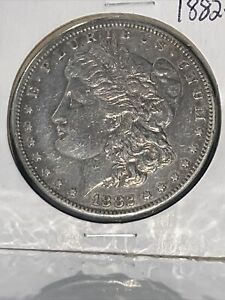 1882 S MORGAN SILVER DOLLAR GREAT DETAIL MINT LUSTER.