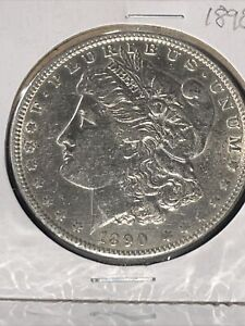 1890 P MORGAN SILVER DOLLAR EXCELLENT MINT LUSTER. ALL AROUND BEAUTIFUL COIN