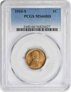 1910 S LINCOLN CENT MS66RD PCGS