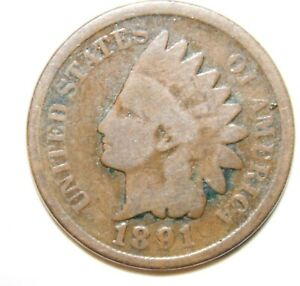 1890 ERROR AND AN 1891 DDO INDIAN CENT