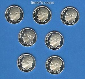 Click now to see the BUY IT NOW Price! 1992 1993 THROUGH 1997 1998 SILVER PROOF DIME SET OF 7
