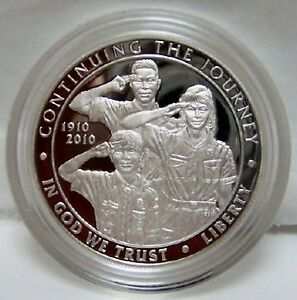 Click now to see the BUY IT NOW Price! US MINT BOY SCOUTS CENTENNIAL 2010 PROOF SILVER $ COIN UNCIRCULATED