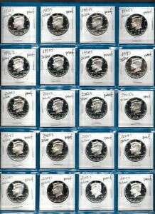 Click now to see the BUY IT NOW Price! 1964 PLUS 1992 THROUGH 2014  SILVER PROOF KENNEDY SET OF  24 COINS ALL GEM PROOF