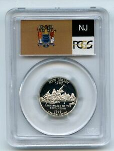 Click now to see the BUY IT NOW Price! 1999 S 25C SILVER NEW JERSEY QUARTER PCGS PR70DCAM
