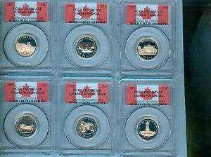 Click now to see the BUY IT NOW Price! 1992 CANADA 25 CENTS 125TH ANNIVERSARY SILVER SET PCGS PR 69DCAM 12 COIN SET