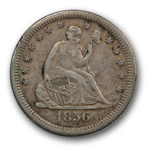 Click now to see the BUY IT NOW Price! 1856 S 25C LIBERTY SEATED QUARTER EXTRA FINE XF SHARP STRIKE R469