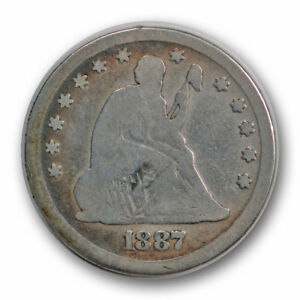 1887 25C LIBERTY SEATED QUARTER GOOD G LOW MINTAGE R650