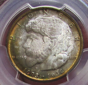 Click now to see the BUY IT NOW Price! 1936 ELGIN HALF DOLLAR 50C PCGS MS67 MONSTER RAINBOW